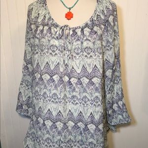 Cotton Blend Fred & David Boho Tunic Top